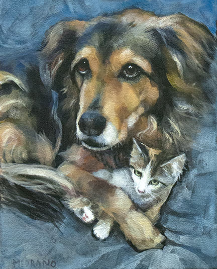 """Maty and Lennox"", 10"" x 8"""